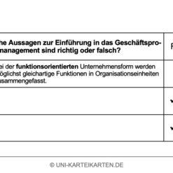 Einfuehrung Wirtschaftsinformatik FernUni Hagen Karteikarte 2.2