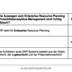 Einfuehrung Wirtschaftsinformatik FernUni Hagen Karteikarte 2.4