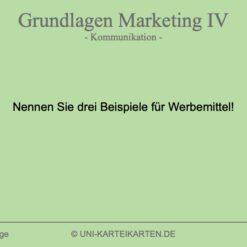 Grundlagen Marketing FernUni Hagen Karteikarte 1.1