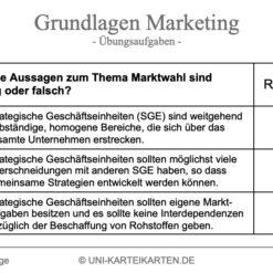 Grundlagen Marketing FernUni Hagen Karteikarte 2.1