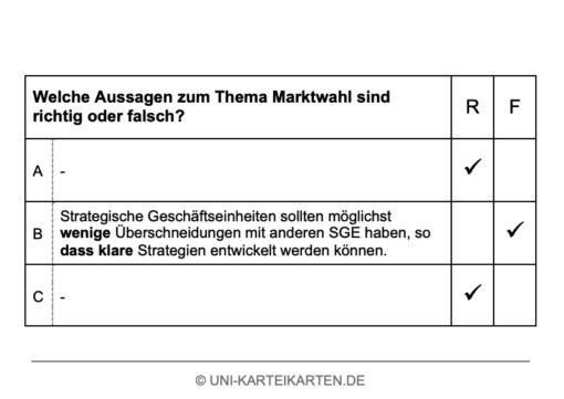 Grundlagen Marketing FernUni Hagen Karteikarte 2.2