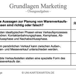 Grundlagen Marketing FernUni Hagen Karteikarte 2.3