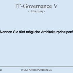 IT-Governance FernUni Hagen Karteikarte 1.3