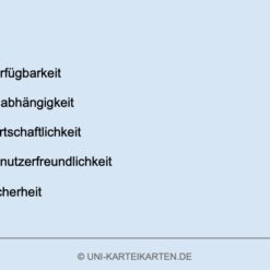 IT-Governance FernUni Hagen Karteikarte 1.4