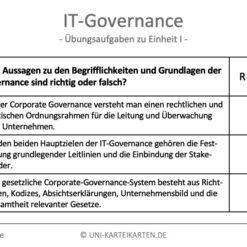 IT-Governance FernUni Hagen Karteikarte 2.1