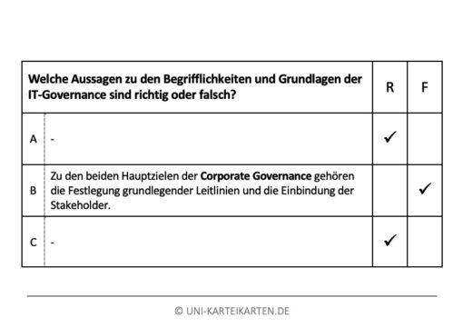 IT-Governance FernUni Hagen Karteikarte 2.2