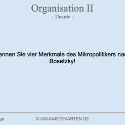 Organisation FernUni Hagen Karteikarte 1.1