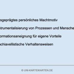 Organisation FernUni Hagen Karteikarte 1.2