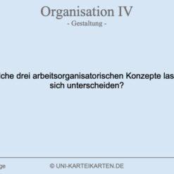 Organisation FernUni Hagen Karteikarte 1.3
