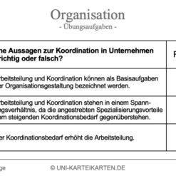 Organisation FernUni Hagen Karteikarte 2.1