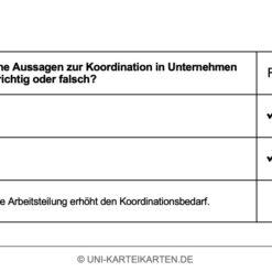 Organisation FernUni Hagen Karteikarte 2.2