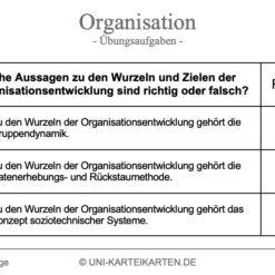 Organisation FernUni Hagen Karteikarte 2.3
