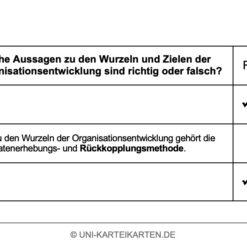 Organisation FernUni Hagen Karteikarte 2.4