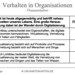 Verhalten in Organisationen FernUni Hagen Karteikarte 2.1