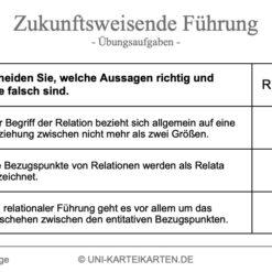 Zukunftsweisende Fuehrung FernUni Hagen Karteikarte 2.1