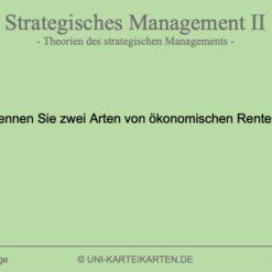 Strategisches Management FernUni Hagen Karteikarte 1.1