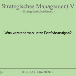 Strategisches Management FernUni Hagen Karteikarte 1.3