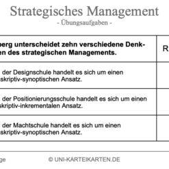Strategisches Management FernUni Hagen Karteikarte 2.1
