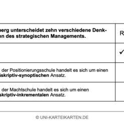 Strategisches Management FernUni Hagen Karteikarte 2.2