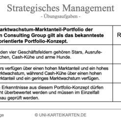 Strategisches Management FernUni Hagen Karteikarte 2.3