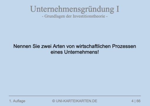 Unternehmensgruendung FernUni Hagen Karteikarte 1.3