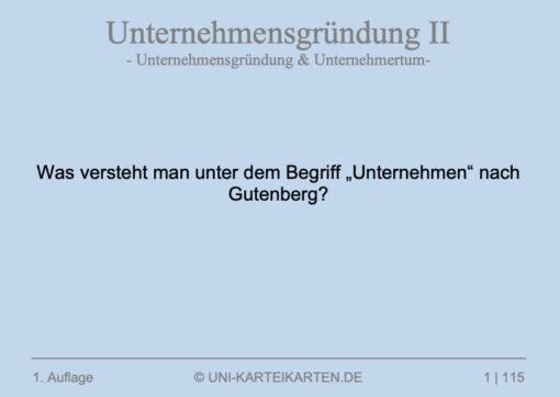 Unternehmensgruendung FernUni Hagen Karteikarte 2.1