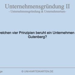 Unternehmensgruendung FernUni Hagen Karteikarte 2.3