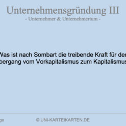 Unternehmensgruendung FernUni Hagen Karteikarte 3.1