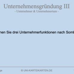 Unternehmensgruendung FernUni Hagen Karteikarte 3.3
