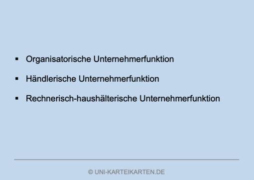Unternehmensgruendung FernUni Hagen Karteikarte 3.4