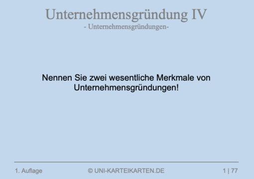 Unternehmensgruendung FernUni Hagen Karteikarte 4.1