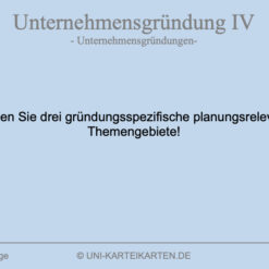 Unternehmensgruendung FernUni Hagen Karteikarte 4.3