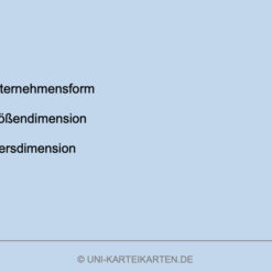 Unternehmensgruendung FernUni Hagen Karteikarte 4.4
