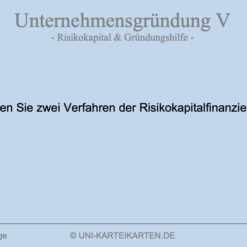 Unternehmensgruendung FernUni Hagen Karteikarte 5.1