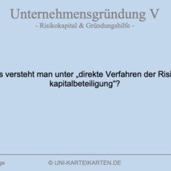 Unternehmensgruendung FernUni Hagen Karteikarte 5.3