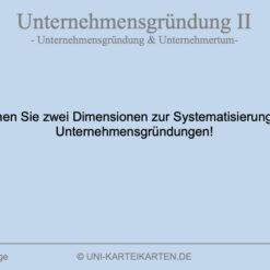 Unternehmensgruendung FernUni Hagen Karteikarte 6.1
