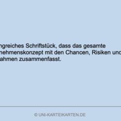 Unternehmensgruendung FernUni Hagen Karteikarte 6.4