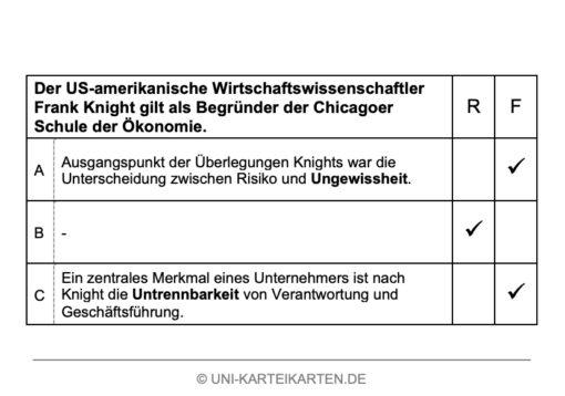 Unternehmensgruendung FernUni Hagen Karteikarte 7.4