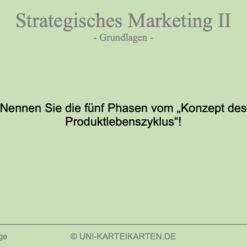 Strategisches Marketing FernUni Hagen Karteikarte 1.1