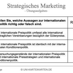 Strategisches Marketing FernUni Hagen Karteikarte 2.1