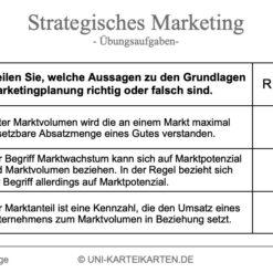 Strategisches Marketing FernUni Hagen Karteikarte 2.3